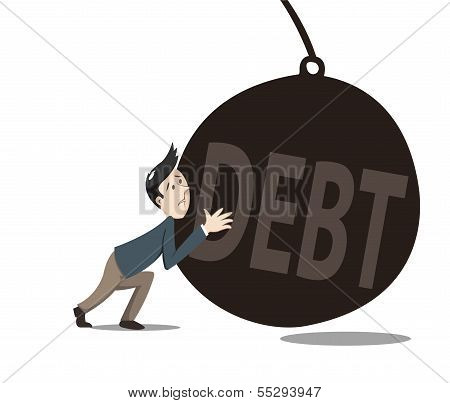 Man Pushint The Debt