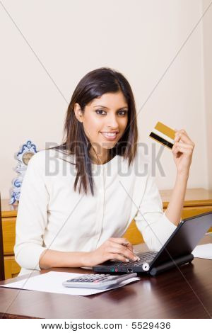 Woman doing finances