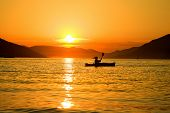 Summer sunset kayaking in Montenegro