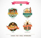 stock photo of mummy  - World Cities labels and icons  - JPG
