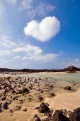 Heart shaped cloud over Canary Islands