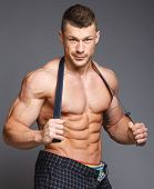 foto of jock  - The beautiful and strong muscular young guy - JPG