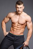 pic of jock  - The beautiful and strong young muscular guy - JPG