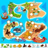 stock photo of treasure  - Various Exotic Location from Pirate Treasure Map