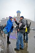 Kiev - Dec 06: People Communicate On Euro Maidan Meeting In Kiev, Ukraine On December 06, 2013.