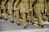 foto of military personnel  - Legs of military personnel are seen during a national day parade - JPG
