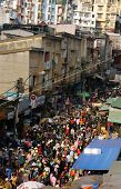 Crowded, Busy Scene At Market On Viet Nam Tet ( Lunar New Year)