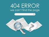 foto of not found  - 404 Page not found vector - JPG