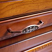 closeup of an antique drawer