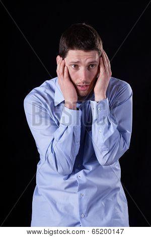 Elegant Man With Headache