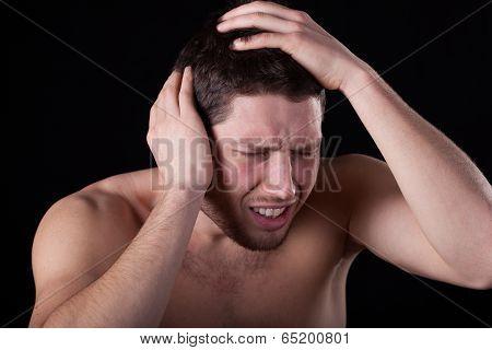 Man Feeling Headache