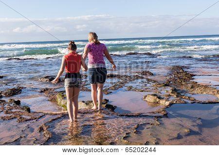 Mother Daughter Beach