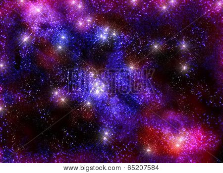 Starry sky infinite Universe amazing and beautiful view of the milky way