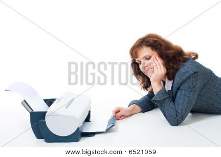 Tired To Wait Until Printer Print Document