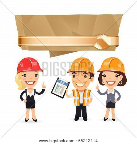 Forewoman with Speech Bubble