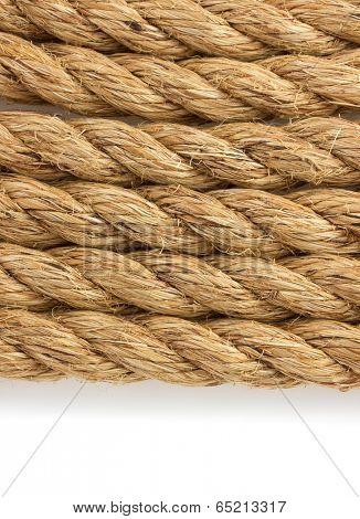 ship ropes isolated on white background