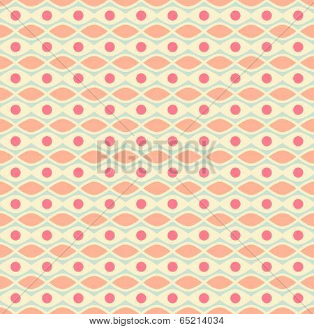 Feminine vector seamless pattern (tiling). Fond pink, yellow and