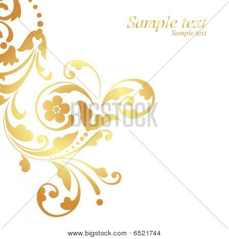 Gold floral design