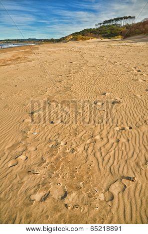 Spanish destination on Atlantic Ocean, Somo beach in Cantabria region