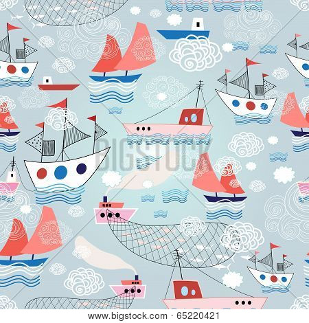 color pattern with different ship