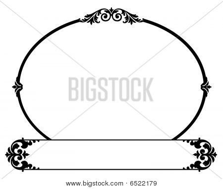 Ornamental Oval Border