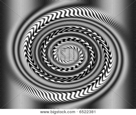 Black And White Optical Illusion Swirl Twirl