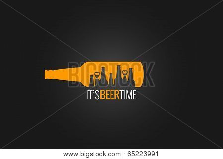 beer bottle concept design background