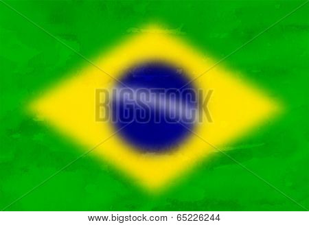 Background with Blurred Brazil Flag, Brasilia Colors Design.