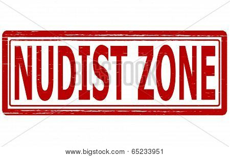 Stamp with text nudist zone inside vector illustration