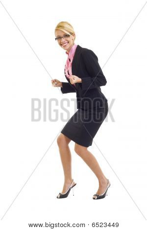 Excitated Businesswoman