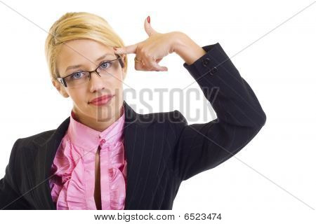 Attractive Businesswoman In Panic