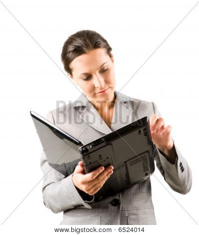 Mujer con Laptop