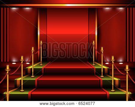 Pedestal vermelho
