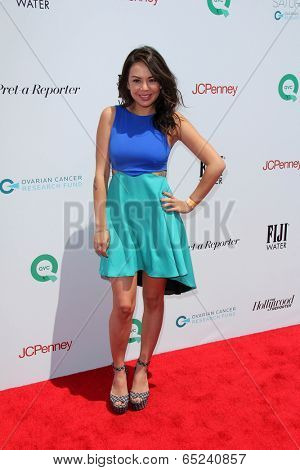 LOS ANGELES - MAY 17:  Janel Parrish at the Ovarian Cancer Research Funds Inaugural Super Saturday LA at Barker Hanger on May 17, 2014 in Santa Monica, CA