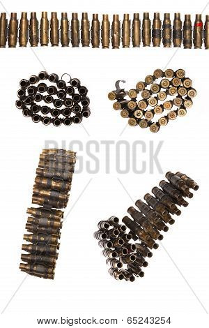 A Genuine Used Military Machine Gun Ammunition Belt.