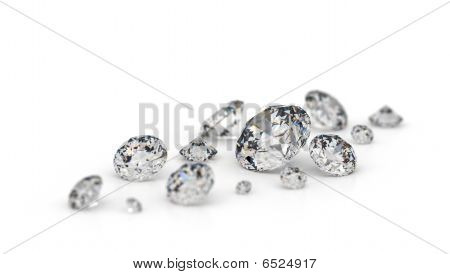 Several Diamonds.