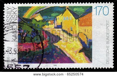 Rainbow In Murnau, Painting By Wassily Kandinsky