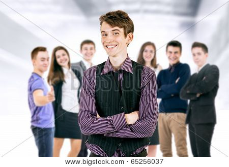 Happy Smiling Young People Portrait