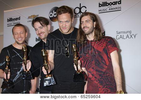 LAS VEGAS - MAY 18:  Imagine Dragons at the 2014 Billboard Awards at MGM Grand Garden Arena on May 18, 2014 in Las Vegas, NV