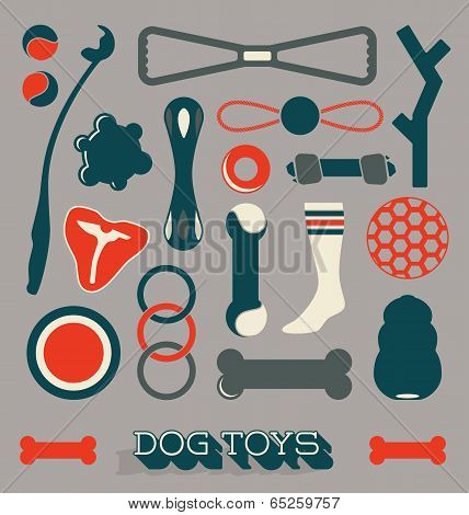 Vector Set: Dog Toys