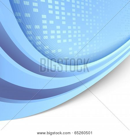 Folder Abstract Tile Blue Template