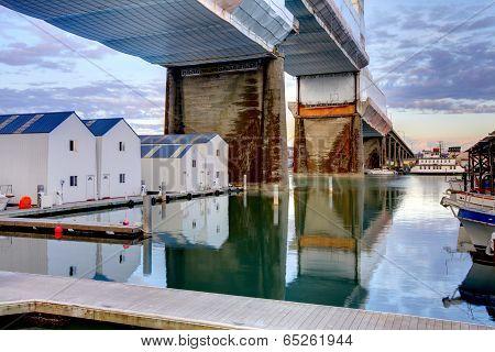 Water Homes Under Bridge Tacoma, Wa
