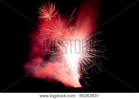 Man Under Fireworks