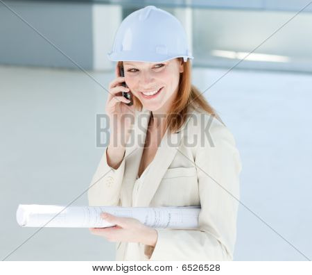 Attractive Engineer On Phone
