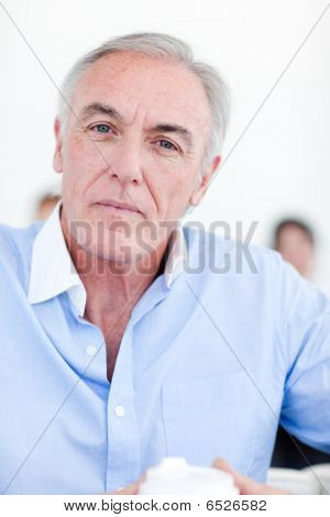 Portrait Of A Serious Senior Manager