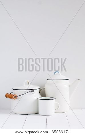 White Vintage Kitchenware