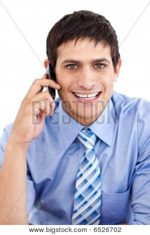 Caucasian Businessman On Phone