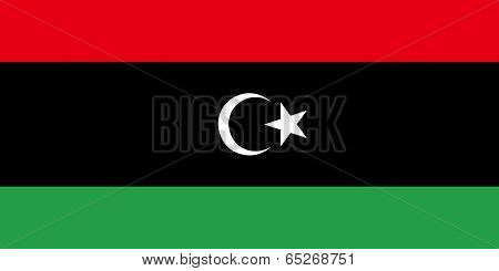National flag of the state of Libya