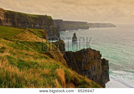 Scenic Seascape On The West Coast Of Ireland
