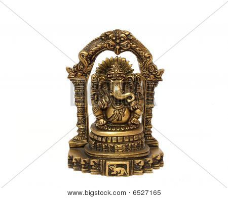 Bronze Statue Of The Indian God Ganesh